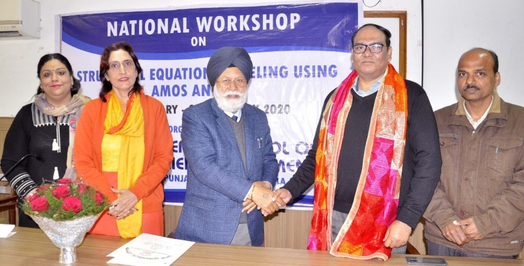 National workshop on structural equation modeling at Punjabi University