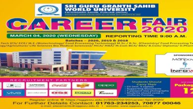 World University is organising Career Fair 2020 ; reputed companies to recruit students-VC