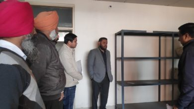 DC conducts checking at government offices in Barnala