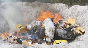 Customs department destroys 79 crores drugs in a nationwide exercise-Photo courtesy-Internet