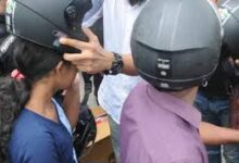 Challan gift-free helmets were given to violators by Haryana transport department-photo courtesy-internet