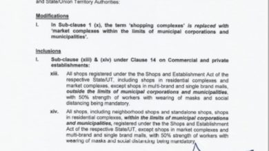 Good News-Govt allows certain categories of shops to open; condition applies