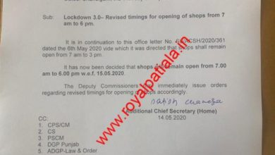 Punjab govt issues revised orders on shop opening