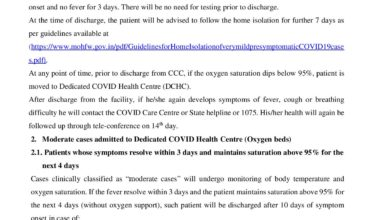 Govt revised the Covid 19 patient discharge policy
