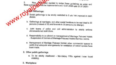Punjab govt issues revised guidelines of phased reopening (Unlock 2.0)
