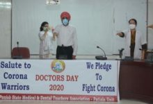 Medical Dental Teachers dedicate National Doctors Day to Covid-19 Warriors