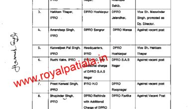 Major reshuffle in public relations department; 19 district gets new DPROs
