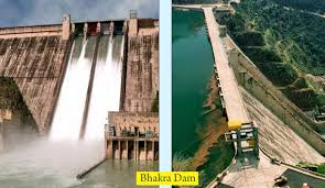 Water level in Bhakra, Ranjit sagar dams remains low due to scanty rainfall-Photo courtesy-Internet