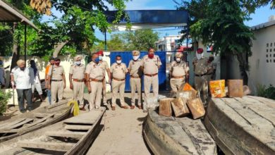 Illicit liquor traders in Hoshiarpur uses boats for distilling; 400 kg lahan, boats recovered