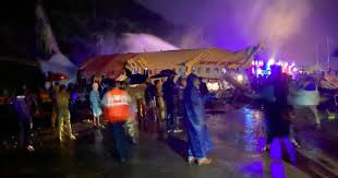 Air India plane crash landed; major tragedy averted-Photo courtesy-Internet