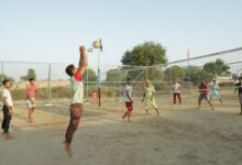 TSPL dedicates volleyball court to encourage sports among village youth