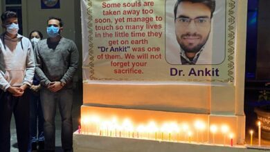 PSMDTA paid tribute to Covid warrior Dr Ankit