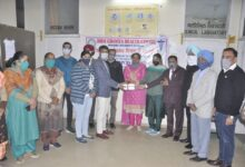 Covid test camp organized by Bhai Ghaniya Health Centre, Punjabi University-Dr Ragina