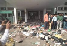 Punjabi University-a place of worship; converted into a garbage dump