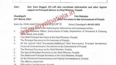 Two IAS officers get new posting orders in Punjab
